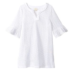 Kate Spade Girls White Eyelet Beach Cover Up 10Y